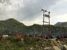 Displaced people from Haku VDC, Rasuwa. In Camp 2, Betrawati, Nuwakot.
