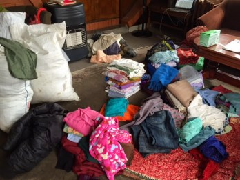We spent two days collecting and sorting used clothes for people in Thulo Haku, Rasuwa (our local contacts said clothes would be very useful for them.)