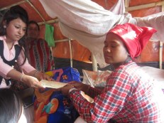 Rita received a bag of new mother supplies and a cash gift of NPR 2000 for her child's treatment through Nehi Fund.