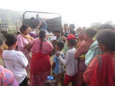 Relief distribution in Ward No 2, Lubhu VDC