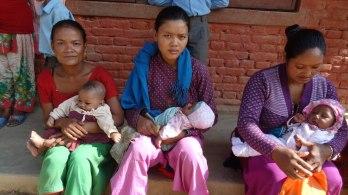 New mothers in Champi VDC