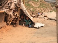 Children in Satbise camp. Families in the camp are now facing severe water shortage.
