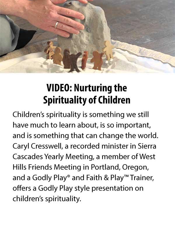Welcoming Quaker Children into Prayer and Worship