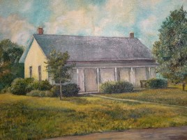 Hickory Grove Meetinghouse painting