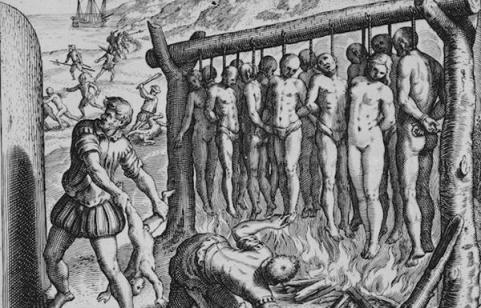 European invaders Barbaric behavior taken against African Victims and Natives