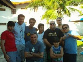 Turma no churrasco na casa de veraneio do mega empresário Gustavo Lobo