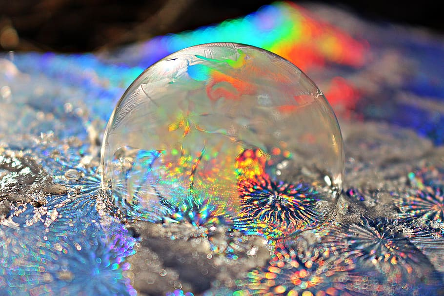 frost-bubble-rainbow-soap-bubble-colorful