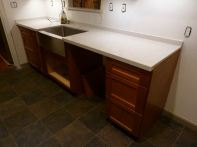 And the countertops...