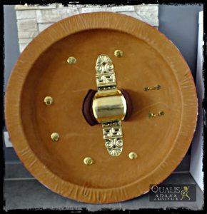 Bouclier grec, intérieur avec porpax et quincaillerie