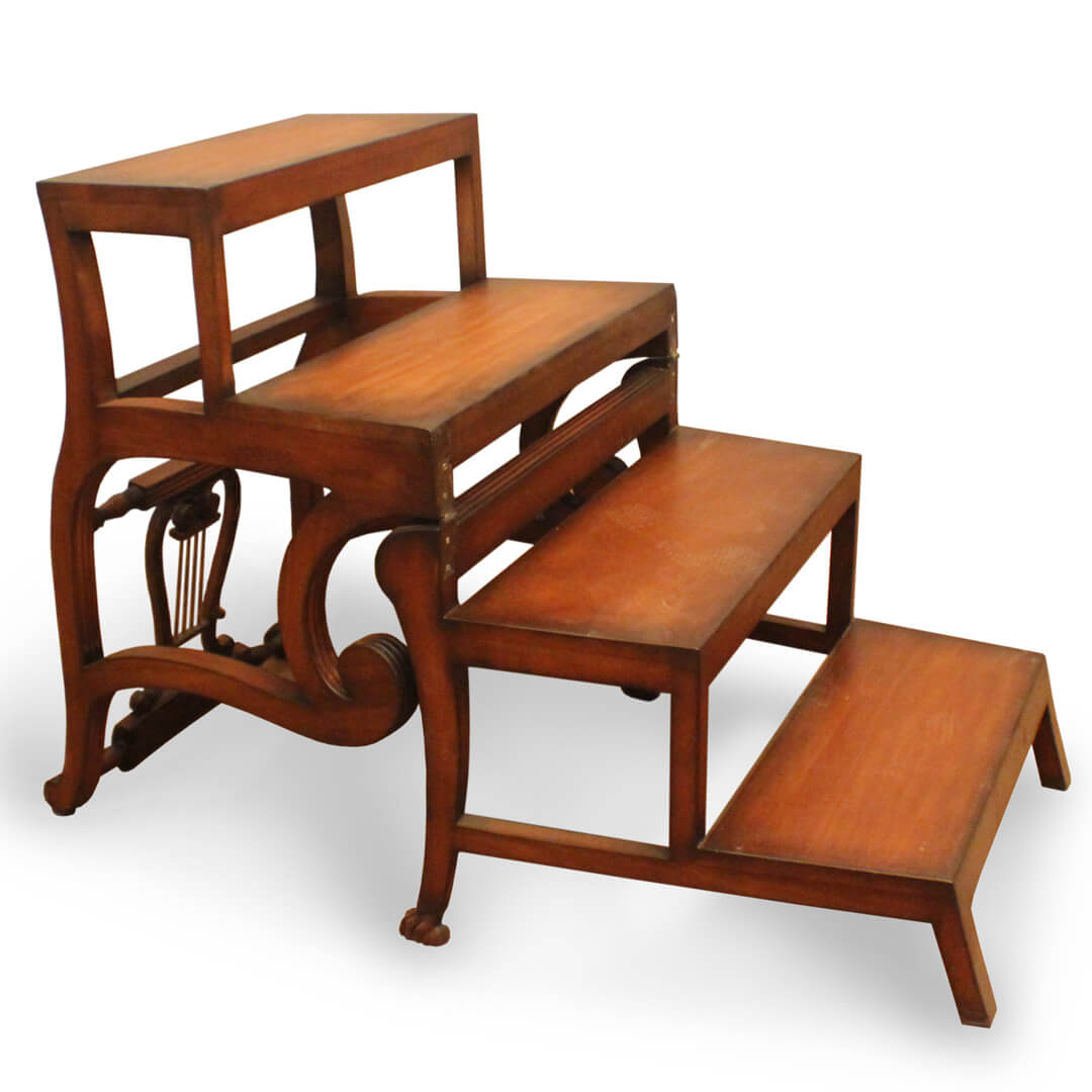Library Ladder Chair Buy Antique Library Ladder Chair From Indonesia