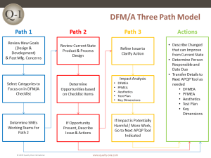 DFMDFA   Design for Manufacturing  Assembly   QualityOne
