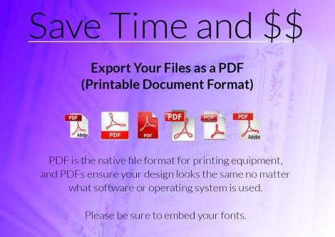 Graphic explaining PDF usage