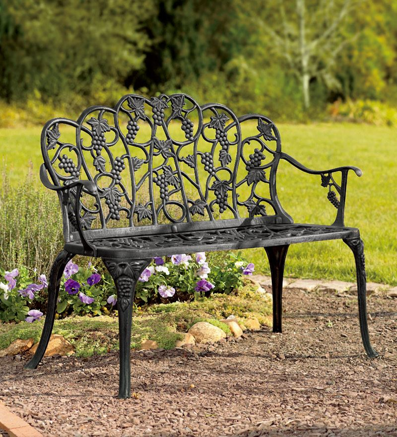 34 metal and wood patio bench