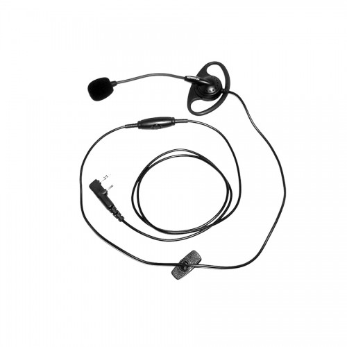 Kenwood KHS-25 D-Ring Headset with PTT & Boom Microphone