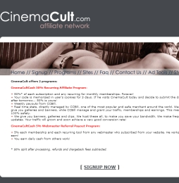 CinemaCult adult affiliate program review