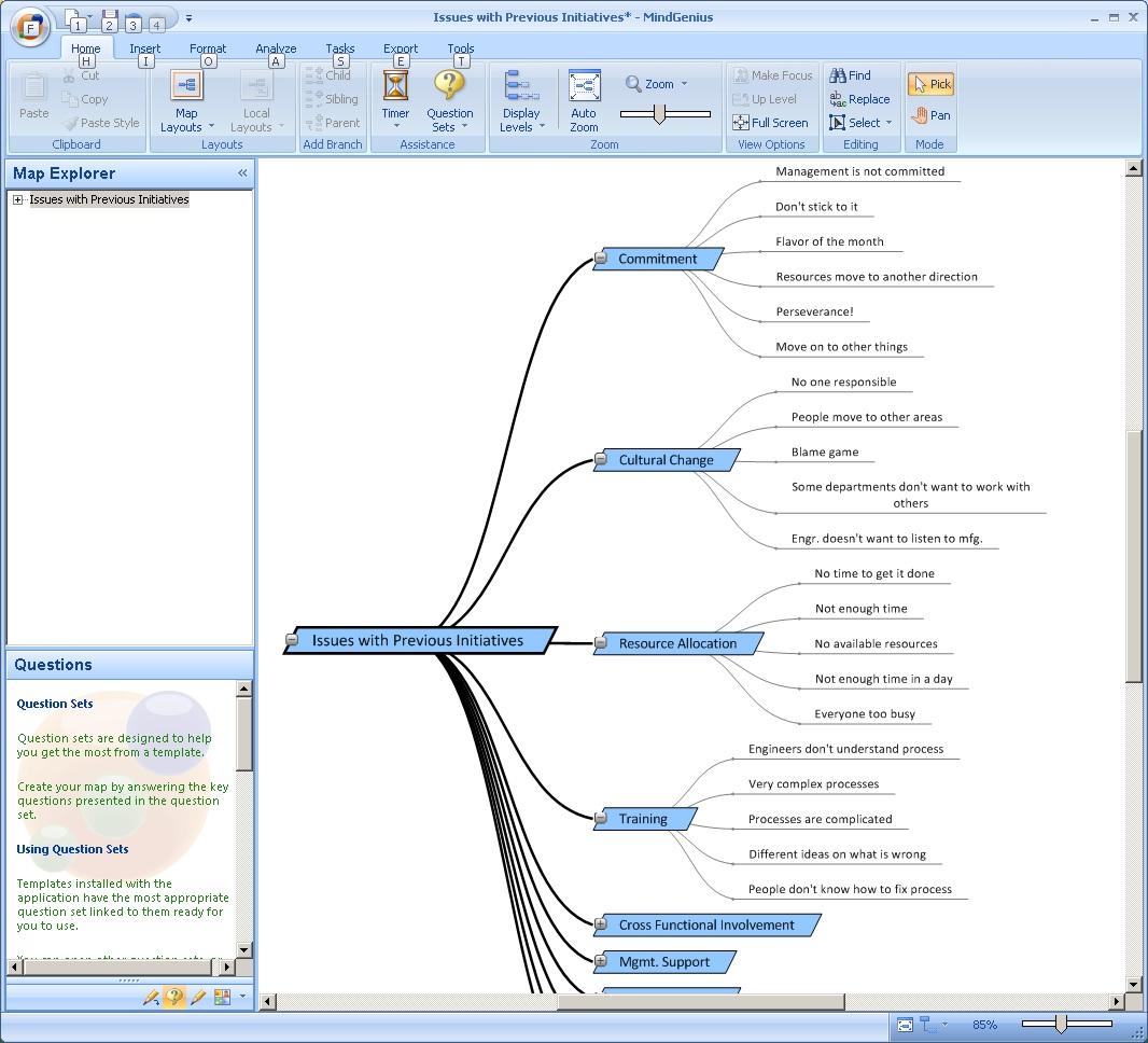 hight resolution of affinity diagram in mindgenius software