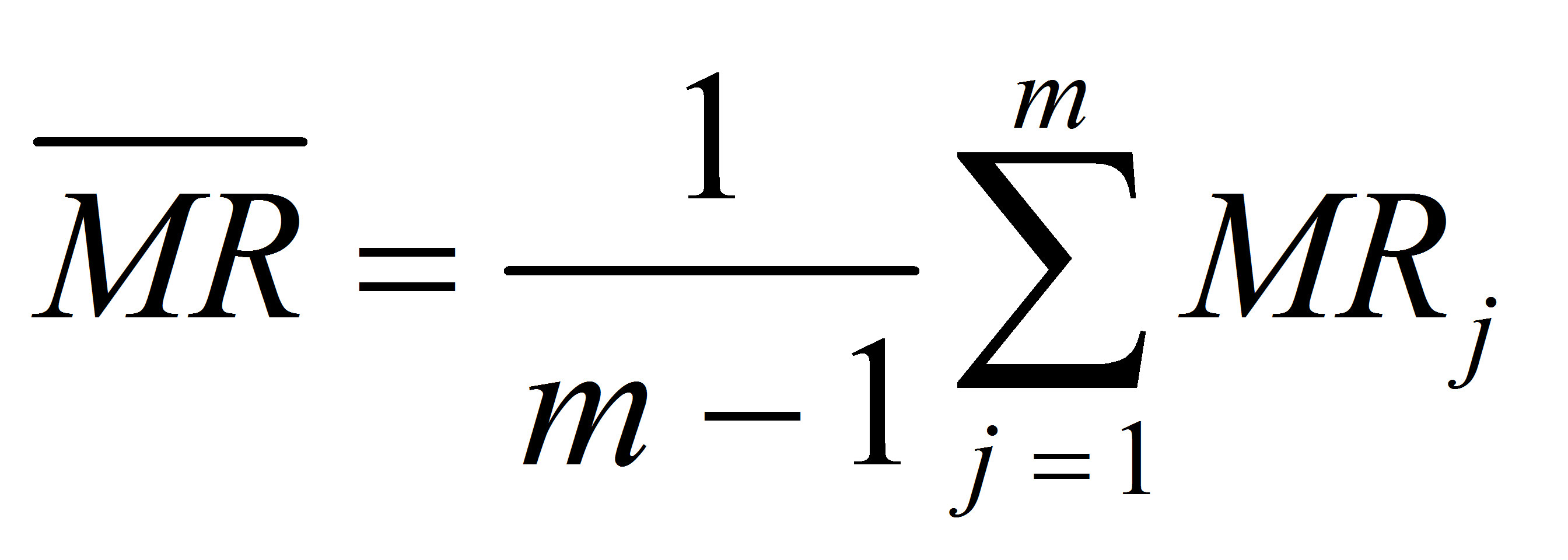 Moving Range Chart Calculations