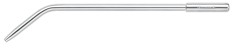 Surgical aspirator for use with low volume cut off valve (Saliva Ejector Valve). Total length = 6 1/4