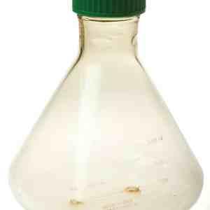 Fernbach Flask, 3L, Vent Cap, Plain Bottom, Sterile