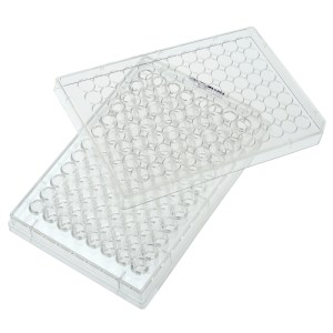 CELLTREAT 96 Well Plate, Round Bottom, with Lid