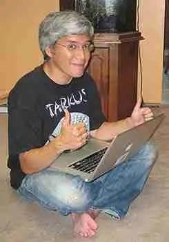 Me at my computer
