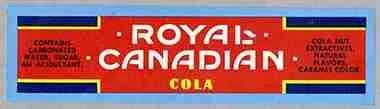 label for Royal Canadian Cola