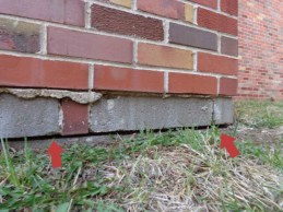 Quality Foundation Repair - Note the large gap