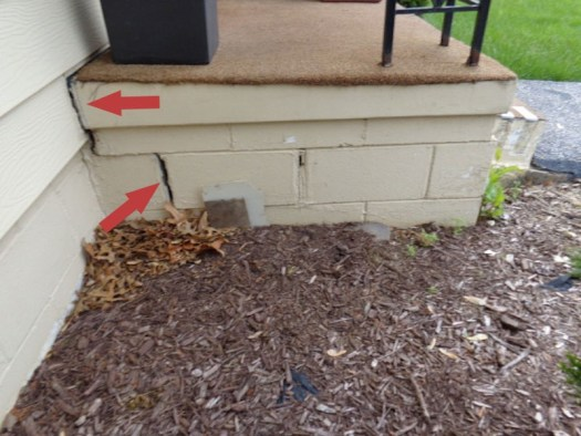 Quality Foundation Repair - This foundation is separating from the home do to settling
