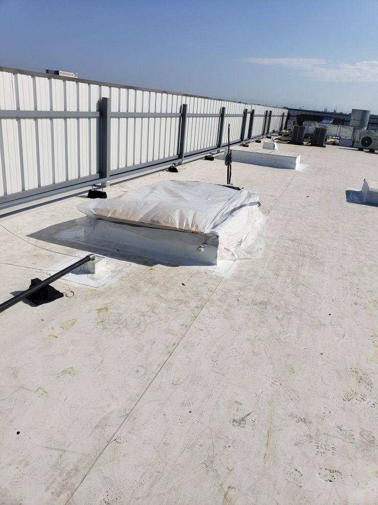 Hvac Installation of Rooftop Unit Curb