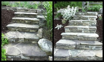 Custom Stone Stairway Western NY