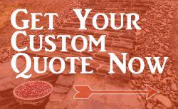 Custom landscaping and stone design quote