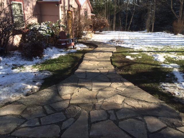 custom stone sidewalk wny