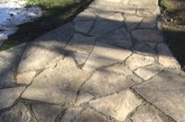 Custom Stone Sidewalk in WNY