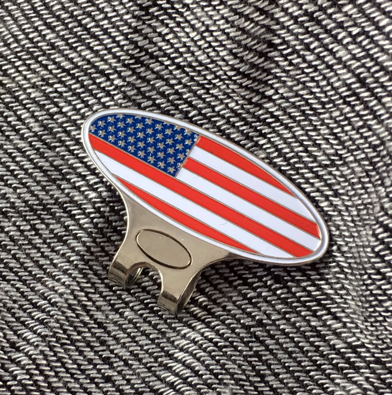 Patriotic Hat Clip