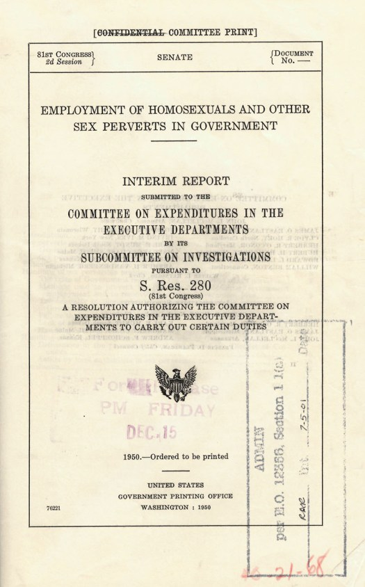 Hoey Report Title Page