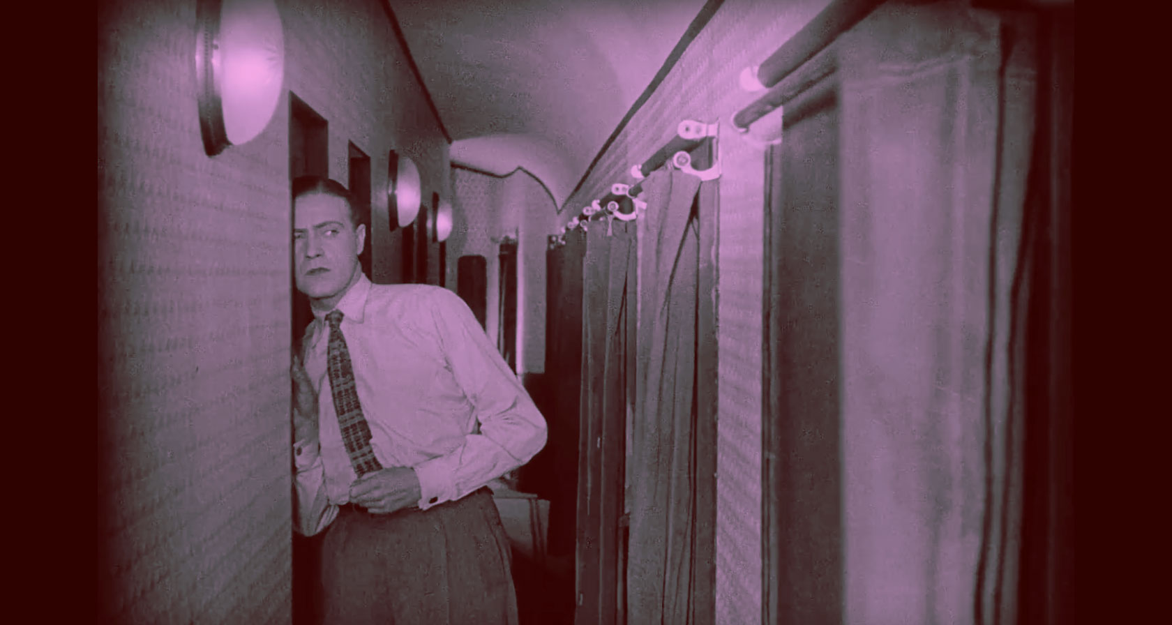 Fritz Lang Spies colorized still