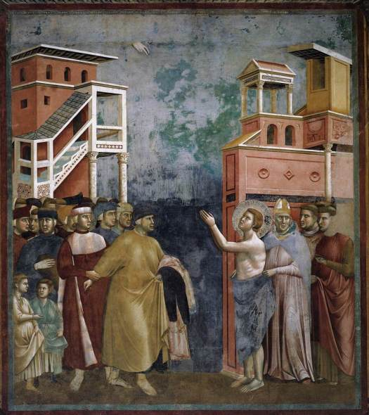 Life of St. Francis: 5. Renunciation of Worldly Goods by ?Giotto di Bondone