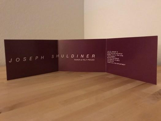 Joseph Shuldiner Paper & Felt Pieces postcard