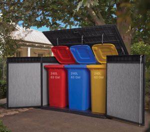 Triple Wheelie Bin Storage Quality Plastic Sheds