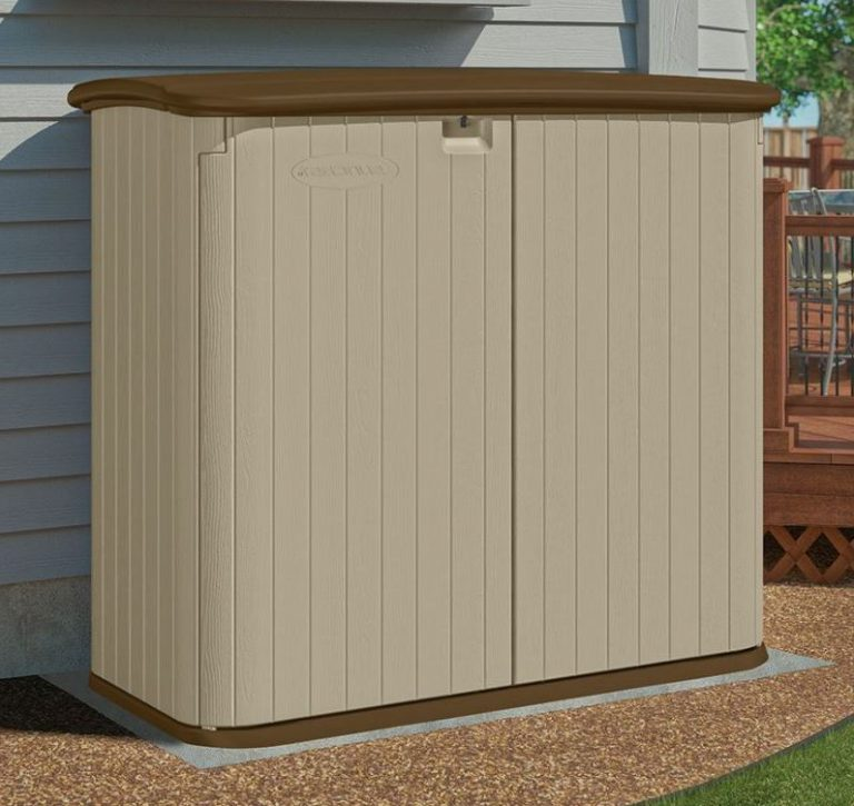 Outdoor Patio Storage Cabinet  Quality Plastic Sheds