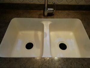 dealing with porcelain sink damage quality restoration inc