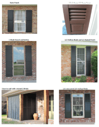Aluminum Decorative Workable Shutters - Quality Siding and ...