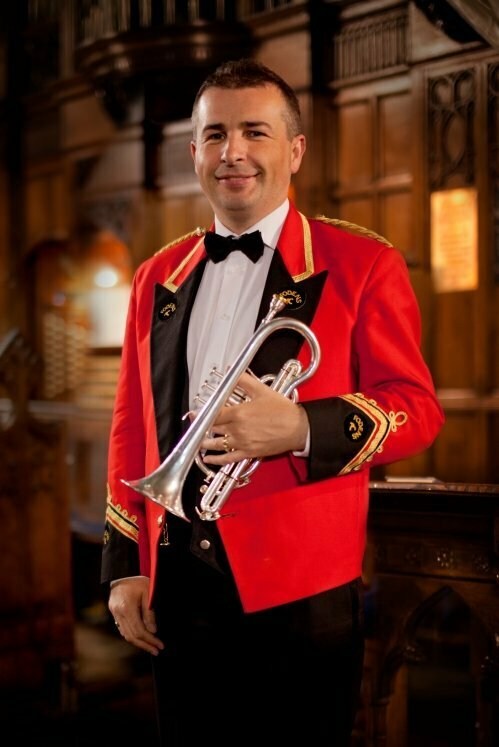 Mark wilkinson picture with fodens band uniform on