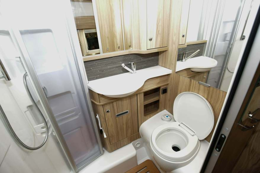 motorhome inside toilet