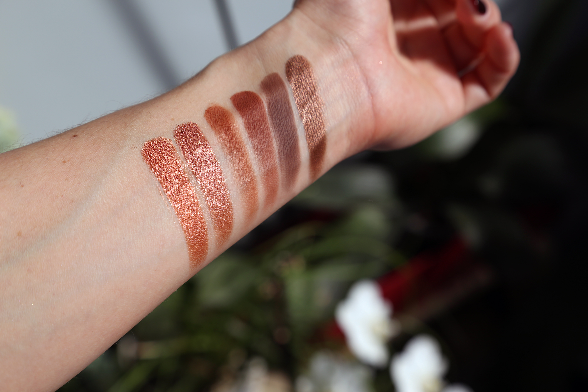 sheglam pinky collection maquillage pas- cher petits prix palette yeux burgundy swatches
