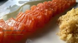 saumon cuit au sel