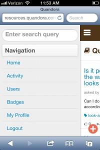 Sliding navigation bar
