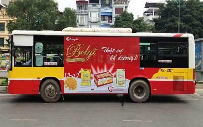 Dịch vụ quảng cáo trên xe bus – chi phí rẻ hiệu quả lớn