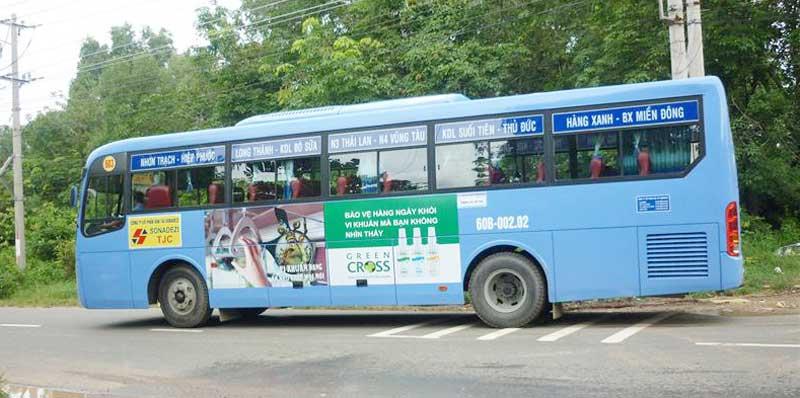 Báo giá quảng cáo trên xe Bus – Miền Đông Nam Bộ