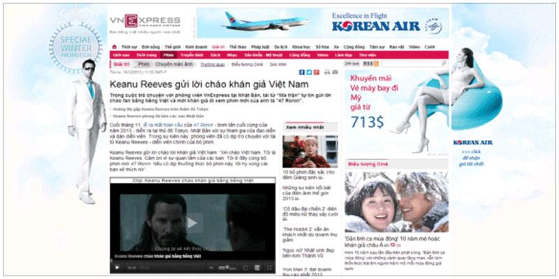 Quảng cáo trên báo điện tử VnExpress-Quảng cáo banner trên báo mạng